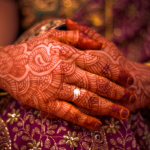 Bride with Mehndi