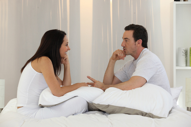 couple having an intimate discussion