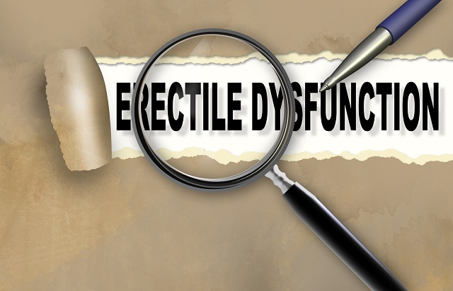 Close-up of word erectile dysfunction